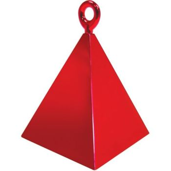 Red Pyramid Weights - 4 BALLOON Weights - PARTY Balloon WEIGHTS - Balloon WEIGHTS - Red BALLOON Weights