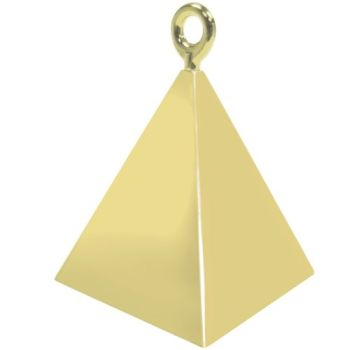 Gold Pyramid Weights - 4 BALLOON Weights - PARTY Balloon WEIGHTS - Balloon WEIGHTS - Gold BALLOON Weights