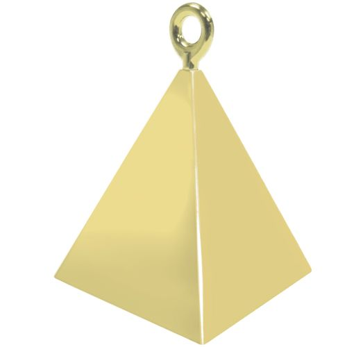 Gold Pyramid Weights - 4 BALLOON Weights - PARTY Balloon WEIGHTS - Balloon