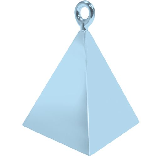 Pearl Light Blue Pyramid Weights - 4 BALLOON Weights - PARTY Balloon WEIGHT