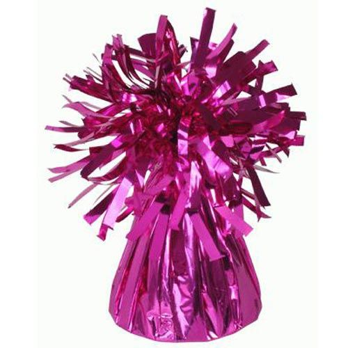 Fuschia Frilly Balloon Weights - 4 BALLOON Weights - PARTY Balloon WEIGHTS