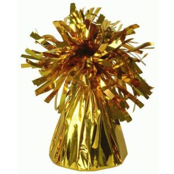 Gold Frilly Balloon Weights - 4 BALLOON Weights - PARTY Balloon WEIGHTS - Balloon WEIGHTS - Gold BALLOON Weights