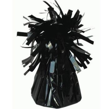 Black Frilly Balloon Weights - 4 BALLOON Weights - PARTY Balloon WEIGHTS - Balloon WEIGHTS - Black BALLOON Weights