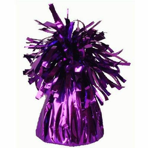 Purple Frilly Balloon Weights - 4 BALLOON Weights - PARTY Balloon WEIGHTS -
