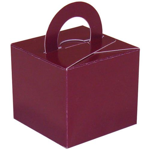 Pack Of 5 Helium Balloon Weight Party Favour Gift Boxes - BURGUNDY Card WEI