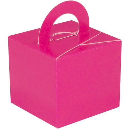 Pack Of 5 Helium Balloon Weight Party Favour Gift Boxes - FUCHSIA Card WEIG