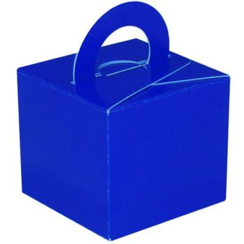 Pack Of 5 Helium Balloon Weight Party Favour Gift Boxes - BLUE Card WEIGHTS - PACK Of 5 - Blue CARD Balloon Weight BOX