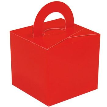 Pack Of 5 Helium Balloon Weight Party Favour Gift Boxes - RED Card WEIGHTS - PACK Of 5 - Red CARD Balloon Weight BOX