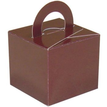 Pack Of 5 Helium Balloon Weight Party Favour Gift Boxes - BROWN Card WEIGHTS - PACK Of 5 - Brown CARD Balloon Weight BOX