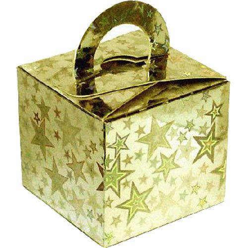 Pack Of 5 Helium Balloon Weight Party Favour Gift Boxes - GOLD Card WEIGHTS