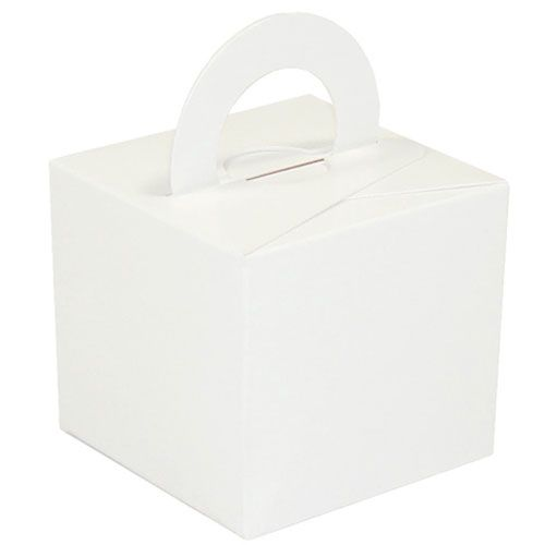 Pack Of 5 Helium Balloon Weight Party Favour Gift Boxes - WHITE Card WEIGHT