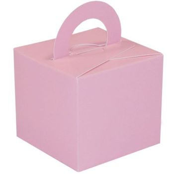 Pack Of 5 Helium Balloon Weight Party Favour Gift Boxes - PINK Card WEIGHTS - PACK Of 5 - Pink CARD Balloon Weight BOX