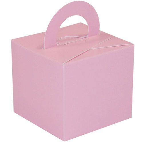 Pack Of 5 Helium Balloon Weight Party Favour Gift Boxes - PINK Card WEIGHTS
