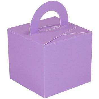 Pack Of 5 Helium Balloon Weight Party Favour Gift Boxes - LAVENDER Card WEIGHTS - PACK Of 5 - Lavender CARD Balloon Weight BOX