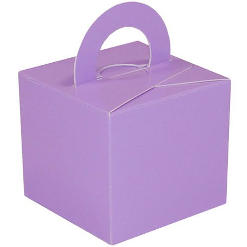 Pack Of 5 Helium Balloon Weight Party Favour Gift Boxes - LAVENDER Card WEI
