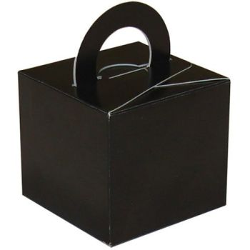 Pack Of 5 Helium Balloon Weight Party Favour Gift Boxes - BLACK Card WEIGHTS - PACK Of 5 -  Black CARD Balloon Weight BOX
