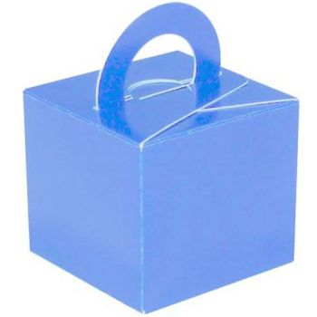 Pack Of 5 Helium Balloon Weight Party Favour Gift Boxes - BLUE Card WEIGHTS - PACK Of 5 - Light Blue CARD Balloon Weight BOX