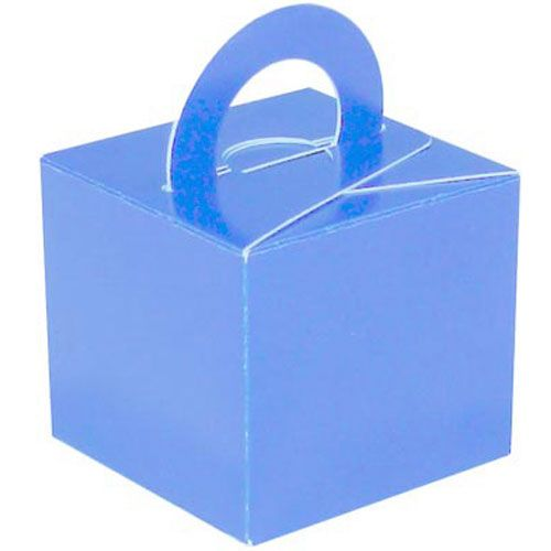 Pack Of 5 Helium Balloon Weight Party Favour Gift Boxes - BLUE Card WEIGHTS