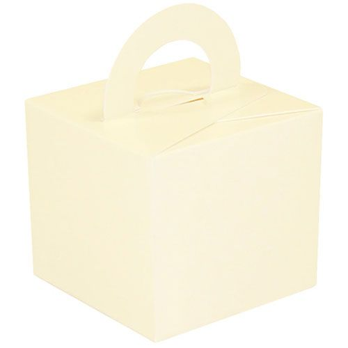 Pack Of 5 Helium Balloon Weight Party Favour Gift Boxes - IVORY Card WEIGHT