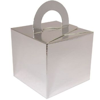 Balloon Weight Box - SILVER CARDBOARD Box Weights - Balloon Weights - Box WEIGHTS - SILVER BALLOON Weights - Gift BOX - PARTY FAVOUR BOX - Xmas PARTY