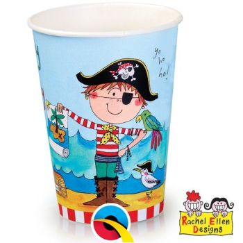 Pirate Cups - PACK Of 16 - PARTY Cups - PIRATE TABLEWARE - Pirate PARTY Supplies - PAPER Party TABLEWARE - Kids' PARTY Tableware - PAPER CUPS