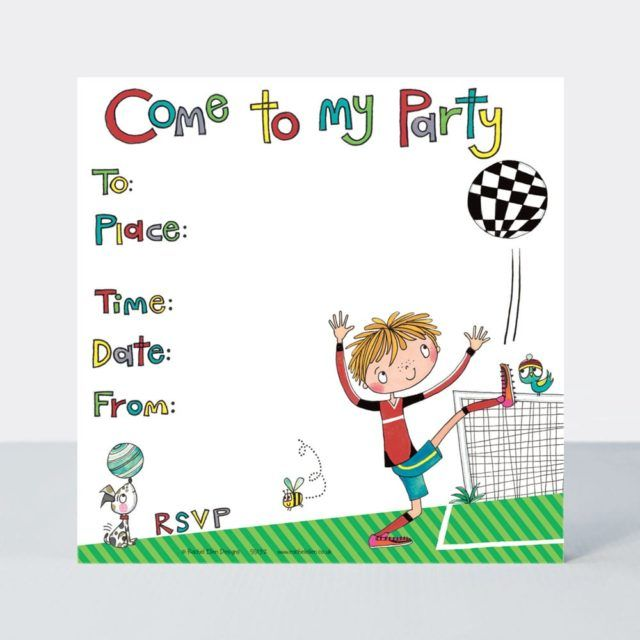 Football Invitations – FOOTBALL Children's BIRTHDAY PARTY Invitations – FOO