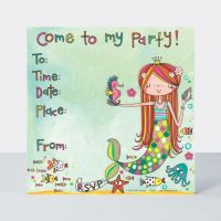 Mermaid Party Invitations – MERMAID Invitation – MERMAID Party SUPPLIES - Mermaid BIRTHDAY Invitations - PACK Of 8 PARTY Invitations With ENVELOPES