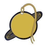 Gift Tags - PLANET Gift Tags 4 PACK - Planet SATURN Gift Tags  - TAGS With RIBBON Attached - LUXURY Gift TAGS - Gold FOIL Tags - GIFT Wrap ACCESSORIES