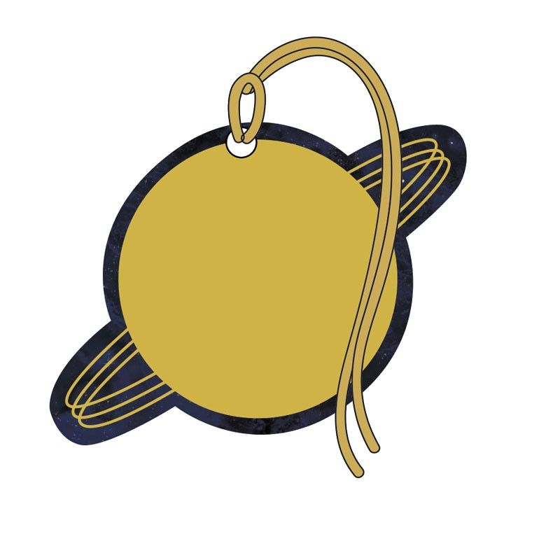 Gift Tags - PLANET Gift Tags 4 PACK - Planet SATURN Gift Tags - TAGS With R