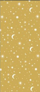 Constellations Stars Luxury Tissue Paper - Pack Of 4 - CONSTELLATION STARS - Luxury TISSUE Paper - GIFT Wrapping - GOLD & White COLOURED Tissue PAPER