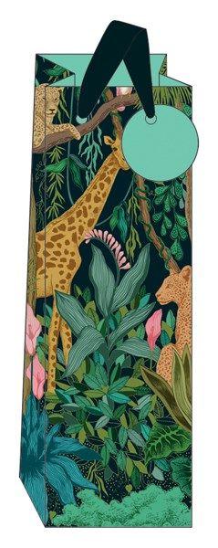 Safari Style Bottle Gift Bag - WINE & Bottle GIFT Bags - BOTTLE Gift BAGS -