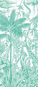 Safari Print Luxury Tissue Paper - Pack Of 4 - JUNGLE THEME - Luxury TISSUE Paper - GIFT Wrapping - GREEN & White COLOURED Tissue PAPER