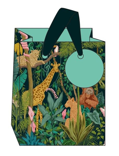 Safari Style Small Gift Bag - SMALL Portrait GIFT Bags - Gift BAGS - BIRTHD