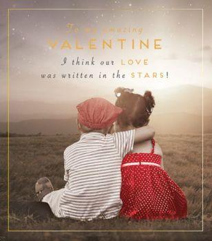 Romantic Valentine's Card - OUR Love Was WRITTEN In The STARS - Cute VALENTINE'S Card - VALENTINE'S Card For BOYFRIEND - Girlfriend - WIFE - Husband