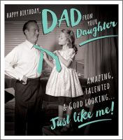 Daddy Daughter Card - HAPPY Birthday DAD From YOUR Daughter - Funny Birthday CARDS For DAD - Birthday CARDS For DAD - Funny DAD Birthday CARDS