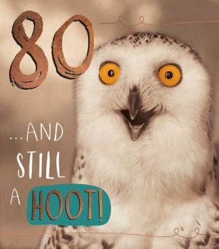 80th Birthday Cards - 80 & STILL A HOOT - Funny 80th BIRTHDAY Card - FUNNY 80th CARDS - OWL Birthday CARD - Funny BIRTHDAY Card For GRAN - Friend