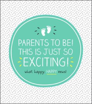 Parents To Be Card - THIS Is JUST So EXCITING - New PARENTS Card - BABY Shower CARD - Pregnancy CONGRATULATIONS Card - PREGNANCY Cards