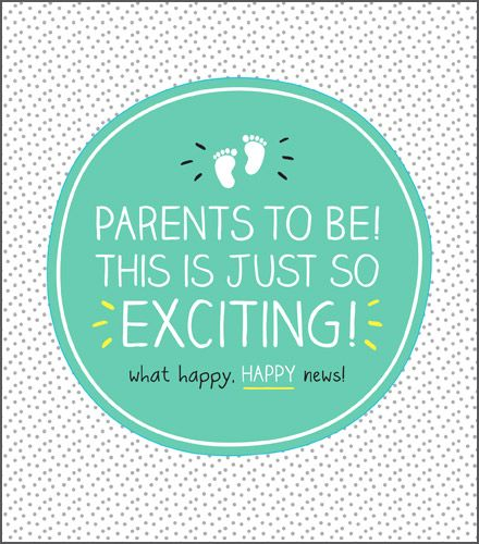 Parents To Be Card - THIS Is JUST So EXCITING - New PARENTS Card - BABY Sho
