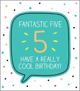 5th Birthday Cards - HAVE A Really COOL Birthday - Age 5 BIRTHDAY Card - 5th BIRTHDAY Card FOR Son - Grandson - NEPHEW