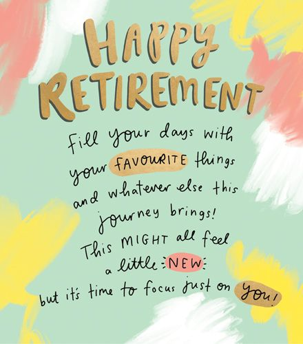 Happy Retirement Cards - TIME To FOCUS Just ON YOU - Retirement Cards - RET