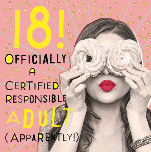 18th Birthday Cards Responsible Adult Apparently Funny 18th Birthday Card Sarcastic Birthday Card Funny 18th Card For Daughter Friend Her
