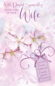 With Deepest Sympathy Card -  On The LOSS Of Your WIFE Cards - SYMPATHY Cards - WIFE Sympathy CARDS - Sympathy & CONDOLENCE Cards