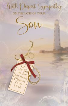 With Deepest Sympathy Card - May TIME Ease Your PAIN - LOSS Of SON Cards - SYMPATHY Cards - SON Sympathy CARDS - Sympathy & CONDOLENCE Cards