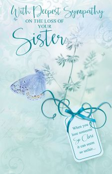 With Deepest Sympathy Card -  WHEN You LOOSE Someone - LOSS Of SISTER Cards - SYMPATHY Cards - SISTER Sympathy CARDS - Sympathy & CONDOLENCE Cards