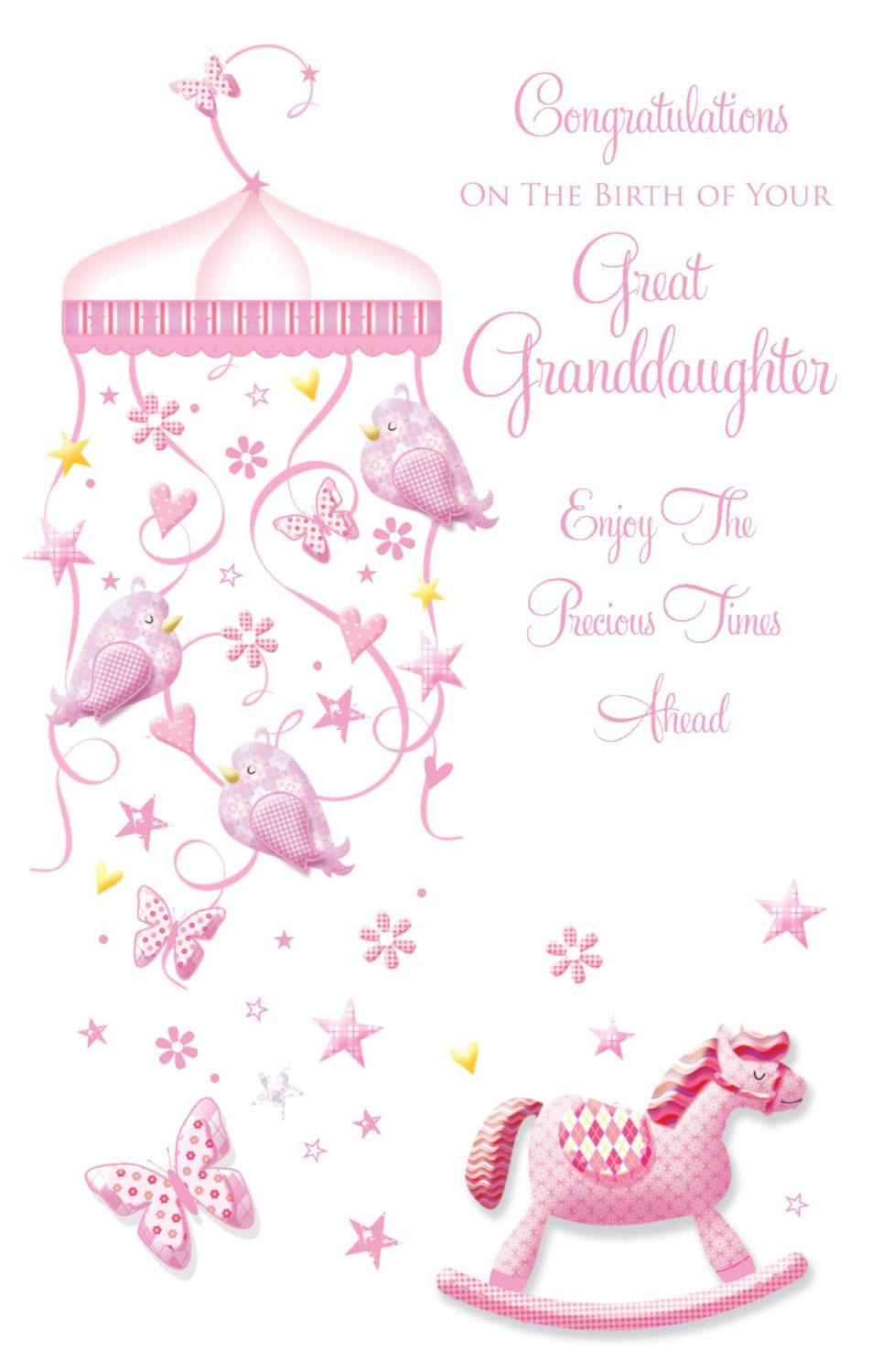 Congratulations On The Birth Of Your Great Granddaughter Card - MODERN Desi