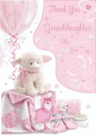 Thank You For Our Beautiful Granddaughter - WHO Fills Our HEARTS With LOVE - Cute GRANDDAUGHTER Card - NEW Baby Card