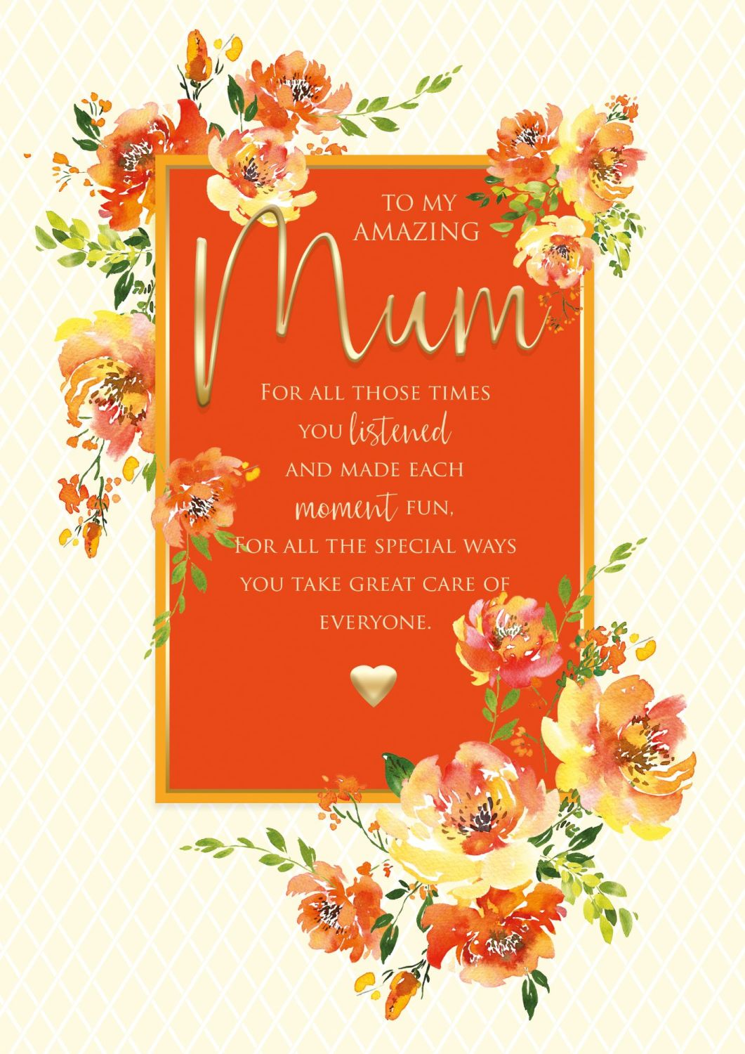To My AMAZING Mum BIRTHDAY Card - FOR All THOSE Times - Mum Birthday Cards