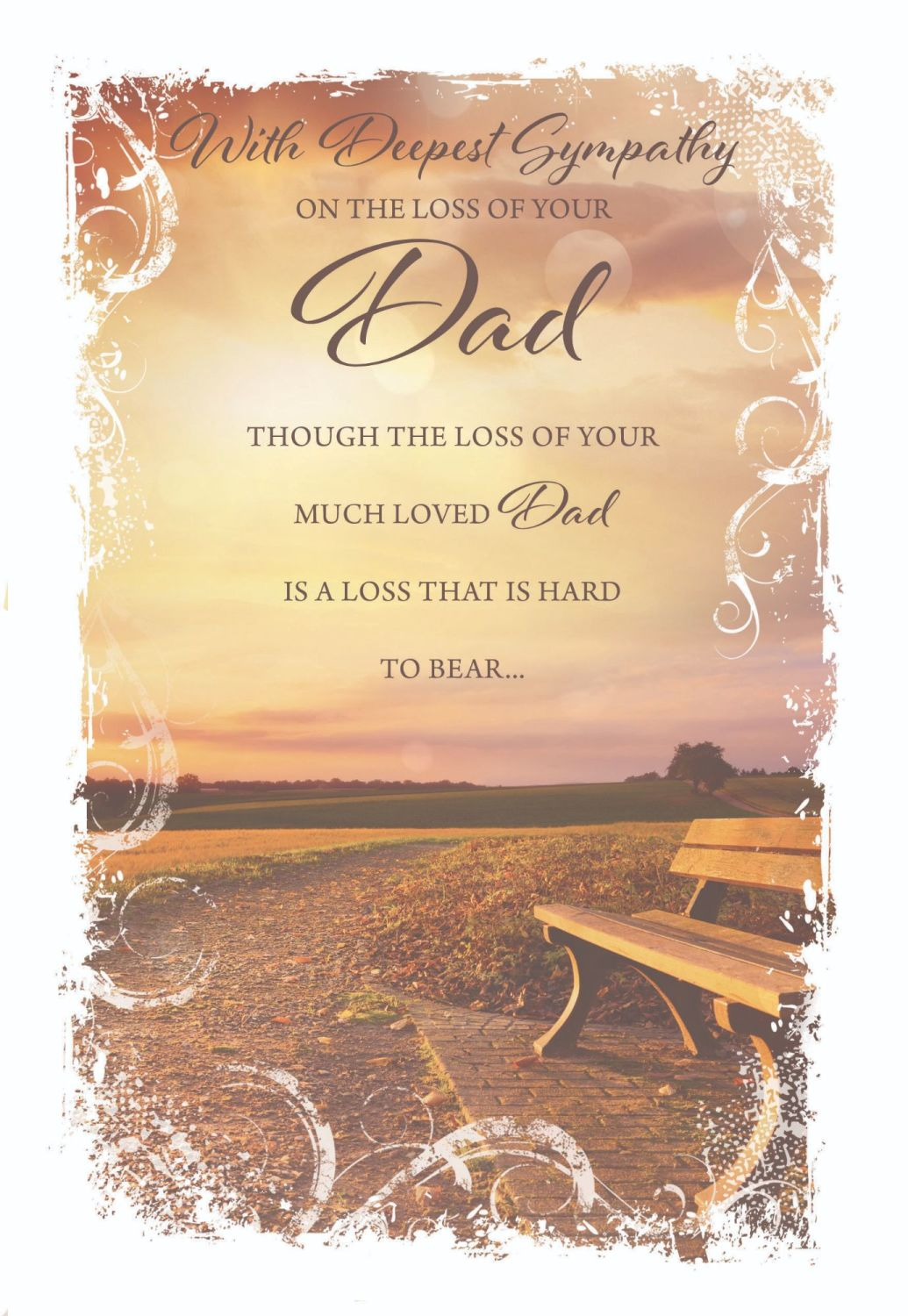Deepest Sympathy Card - A LOSS That Is HARD To BEAR - LOSS Of DAD Cards - S