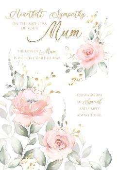 Heartfelt Sympathy Card -  DIFFICULT Grief To BEAR - LOSS Of MUM Cards - SYMPATHY Cards - MUM Sympathy CARDS - Sympathy & CONDOLENCE Cards