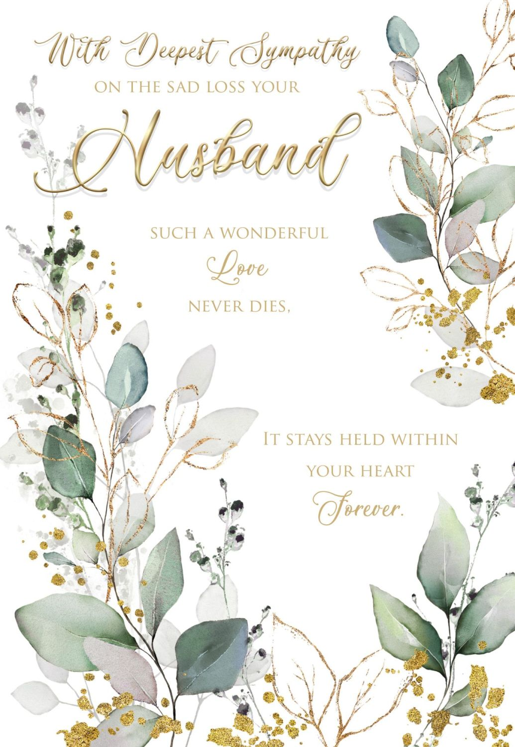 With Deepest Sympathy Card -  SUCH A Wonderful LOVE - LOSS Of HUSBAND Cards